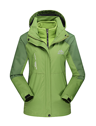 cheap Outdoor Clothing-Women's Hiking Jacket Outdoor Winter Waterproof Windproof Antistatic Heat Retaining Top Camping / Hiking / Caving Winter Sports Sky Blue / Red / Forest Green