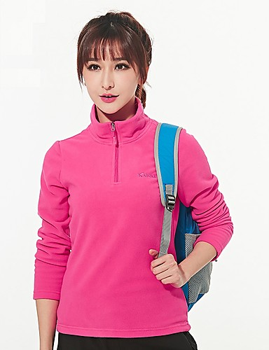 cheap Outdoor Clothing-Men's Women's Solid Color Hiking Sweatshirt Outdoor Autumn / Fall Spring Windproof Breathable Stretchy Comfortable Top Camping / Hiking / Caving Traveling Rose Red / Blue / Royal Blue