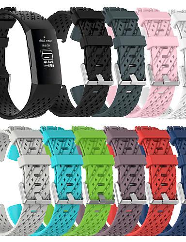 Watch Band varten Fitbit Charge 3 Fitbit Urheiluhihna Silikoni Rannehihna