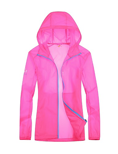 cheap Outdoor Clothing-Women's Solid Color Hiking Jacket Outdoor Summer Breathable Ventilation Ultra Light (UL) Comfortable Top Double Sliders Beach Camping / Hiking / Caving Traveling Fuchsia / Peach / Light Blue