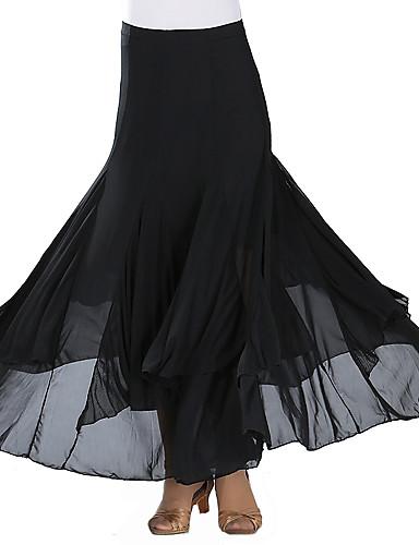 8f010fb0a0e1 Ballroom Dance Bottoms Women's Training / Performance Mesh / Tulle Pleats /  Split Joint / Gore Natural Skirts
