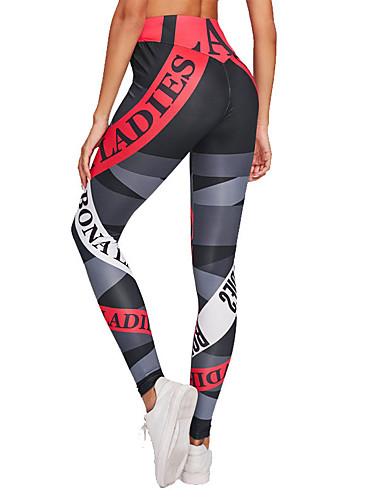 44ed1834ec4 Dame Yoga bukser Sport Mode Højtaljede Tights Løb Fitness Sportstøj Blød  Butt Lift Mikroelastisk Tynd