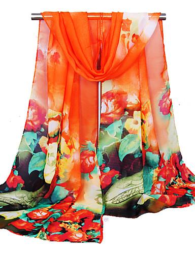 economico Sciarpe da donna-Per donna Essenziale / stile sveglio Sciarpa rettangolare Fantasia floreale