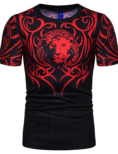 c8d2ecb9e55b3e Men s T-shirt - Geometric   Animal Print Black XL