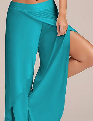 abordables Pantalons Femme-Femme Basique Grandes Tailles Mince Ample Pantalon - Couleur Pleine Bleu clair Marron clair Gris Clair XXXL XXXXL XXXXXL
