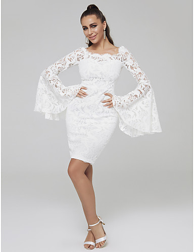 343fb5de32f Sheath   Column Off Shoulder Short   Mini Lace Cocktail Party Dress with  Lace Insert by TS Couture®