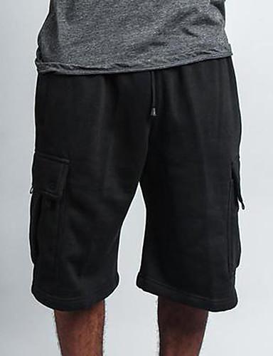 cheap Men's Pants & Shorts-Men's Sporty Sweatpants Pants - Solid Colored Red