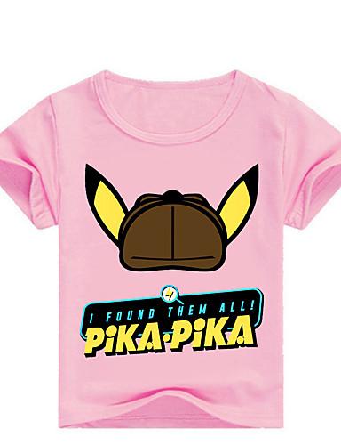 Bambino - Bambino (1-4 Anni) Da Ragazzo Essenziale Con Stampe Con Stampe Manica Corta Cotone - Elastene T-shirt Rosa #07340450 Alta Qualità E Poco Costoso
