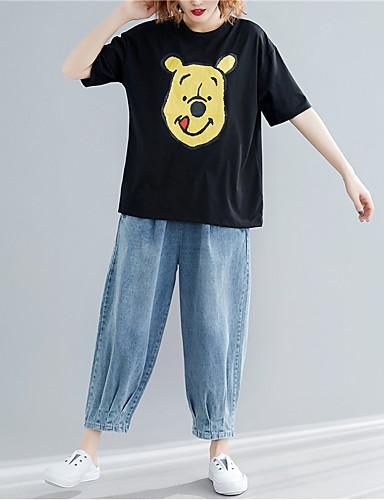 100% Vero T-shirt Per Donna Cartoni Animati Nero Xl #07331994