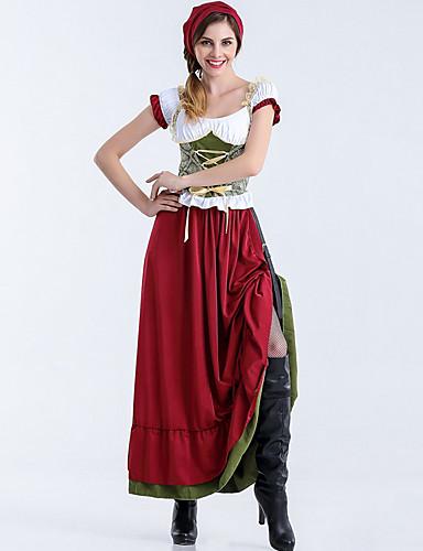 Kasım Festivali üstü dar altı geniş elbise Trachtenkleider Kadın's Elbise Bavyera Kostüm YAKUT