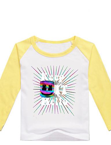 Děti / Toddler Chlapecké Základní Tisk Tisk Dlouhý rukáv Bavlna / Spandex Košilky Černá
