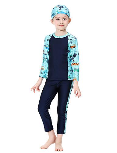 Audace Bambino Da Ragazza Essenziale Fantasia Geometrica Con Stampe Nylon Costumi Da Bagno Nero #07307207 Carino E Colorato