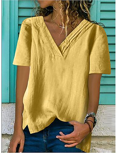 10ec465dfa98 Χαμηλού Κόστους Γυναικεία καλοκαιρινά μπλουζάκια-Γυναικεία T-shirt  Μονόχρωμο Ανθισμένο Ροζ XL
