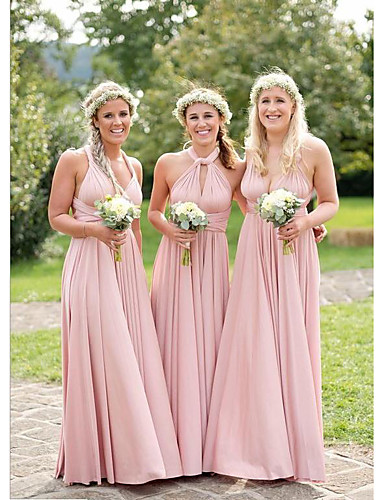 1b665b9294b7 cheap Bridesmaid Dresses-A-Line Off Shoulder Floor Length Jersey Bridesmaid  Dress with by