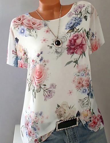 060ebfd533 abordables Camisas y Camisetas para Mujer-Mujer Camiseta Geométrico Morado  XXXL