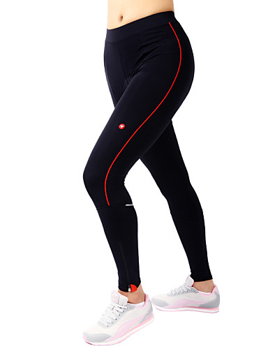 cheap Cycling Clothing-TASDAN Women's Cycling Tights Bike Pants / Trousers Tights Padded Shorts / Chamois Breathable 3D Pad Quick Dry Sports Solid Color Silicon Winter Black Road Bike Cycling Clothing Apparel Relaxed Fit
