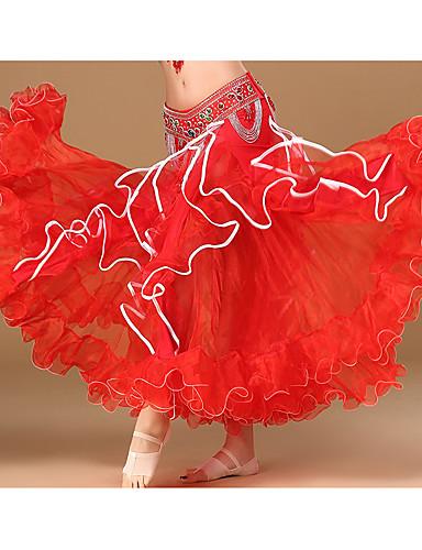 halpa Etniset & Cultural Puvut-Espanjan nainen Hameet Aikuisten Naisten Flamenco Halloween Karnevaali Masquerade Festivaali / loma Polyesteria Keltainen / Vihreä / Sininen Karnevaalipuvut Damaski