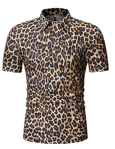 preiswerte Herren Polo Shirts-Herrn Schachbrett EU- / US-Größe Baumwolle Polo, Hemdkragen Patchwork Grau L