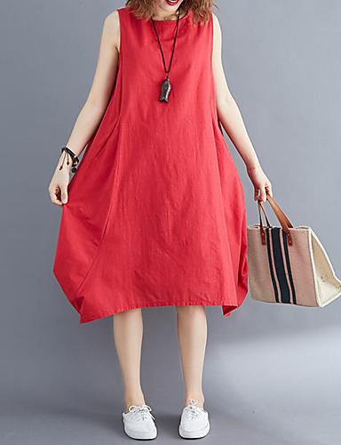 2861c2d97891 Γυναικεία Κομψό στυλ street Κινεζικό στυλ Σε γραμμή Α Τουνίκ Φόρεμα -  Μονόχρωμο