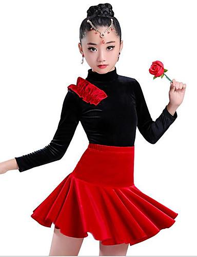 c1147905e1 olcso Latin ruha-Latin tánc / Gyermek táncruhák Ruhák Lány Edzés /  Teljesítmény Spandex /