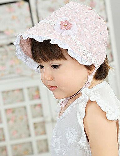 povoljno Ženski modni dodaci-Žene Jednobojni Aktivan Slatka Style Pamuk-Šešir za sunce Ljeto Obala Blushing Pink