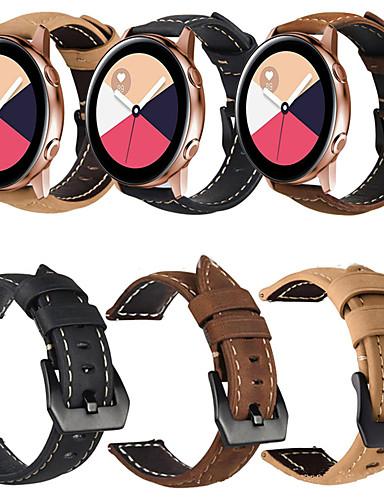 עור אמיתי רטרו wristband wristband רצועת היד לצפות הלהקה עבור סמסונג גלקסיה לצפות פעיל / גלקסיה לצפות 42mm / ציוד ספורט / הילוך s2 שעון חכם