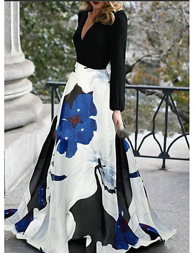 povoljno Duge haljine-A-kroj V izrez Jako kratki šlep Poliester Formalna večer Haljina s po LAN TING Express