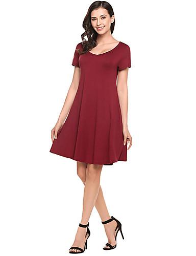 זול שמלות נשים-מעל הברך אחיד - שמלה סקייטר\מחליקה על הקרח בגדי ריקוד נשים