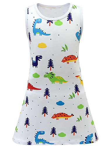 שמלה מעל הברך ללא שרוולים חיה פעיל / סגנון רחוב בנות ילדים / פעוטות