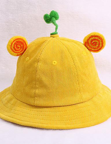 מידה אחת ורוד מסמיק / סגול / צהוב כובעים ומצחיות אחיד / אותיות בסיסי יוניסקס ילדים