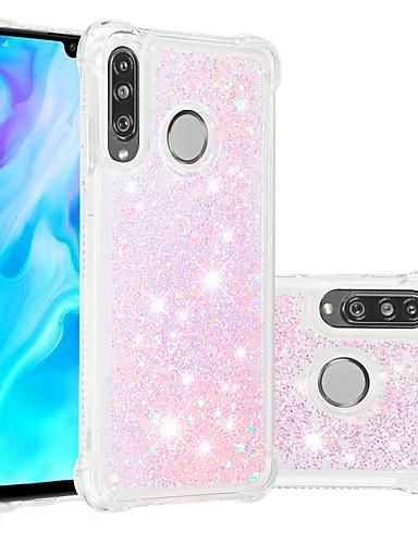 מגן עבור Huawei Huawei P20 / Huawei P20 Pro / Huawei P20 lite עמיד בזעזועים / נוזל זורם / שקוף כיסוי אחורי זוהר ונוצץ רך TPU / P10 Lite