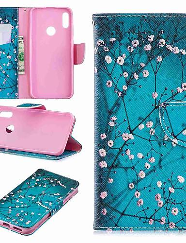 מגן עבור Huawei Huawei P30 / Huawei P30 Pro / Huawei P30 לייט ארנק / עמיד בזעזועים / עם מעמד כיסוי מלא פרח קשיח עור PU
