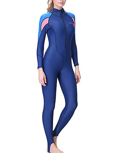 halpa Märkäpuvut, sukelluspuvut ja suoja-asut-Dive&Sail Naisten Skin-tyyppinen märkäpuku Sukelluspuvut SPF50 UV-aurinkosuojaus Nopea kuivuminen Full Body Etuvetoketju - Sukellus Snorklaus