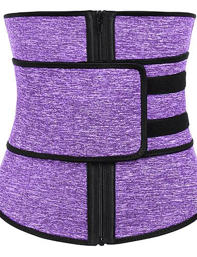 בגדי ריקוד נשים רוכסן מחוך מתחת לחזה - אחיד / אופנתי, תחרה / ספורטיבי / מסוגנן שחור אפור סגול XL XXL XXXL