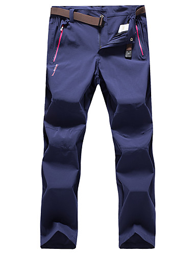 cheap Outdoor Clothing-Women's Solid Color Hiking Pants Outdoor Waterproof Quick Dry High Elasticity Autumn / Fall Spring Summer Pants / Trousers Climbing Camping / Hiking / Caving Traveling Black Dark Blue Khaki XXXL 4XL