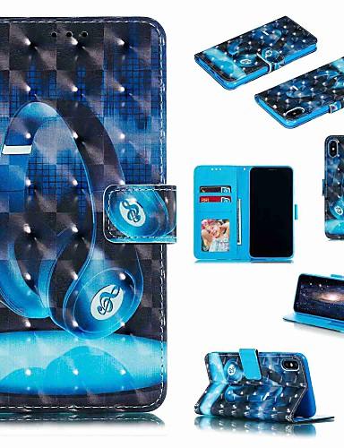 מגן עבור Apple iPhone XS / iPhone XR / iPhone XS Max ארנק / מחזיק כרטיסים / עמיד בזעזועים כיסוי מלא אנימציה קשיח עור PU