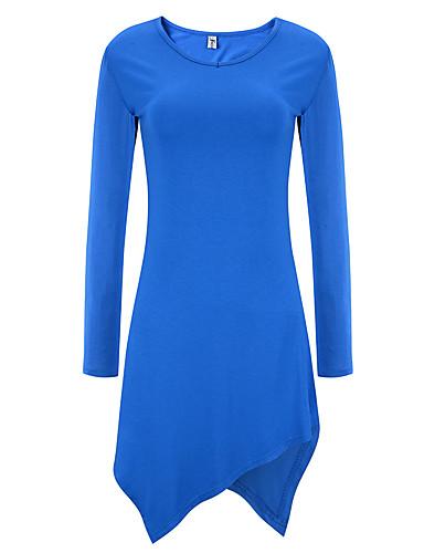 voordelige Dames T-shirts-Dames T-shirt Effen Fuchsia US6