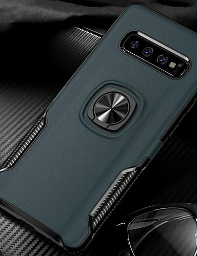מגן עבור Samsung Galaxy S9 / S9 Plus / S8 Plus עמיד בזעזועים / מחזיק טבעת כיסוי אחורי אחיד קשיח PC