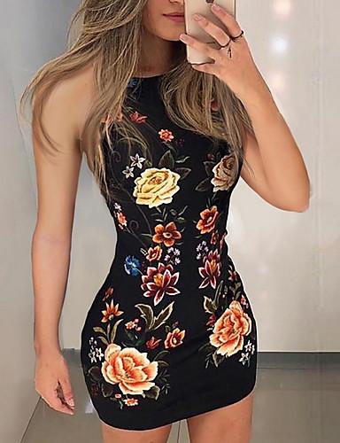 저렴한 미니 드레스-여성용 슬림 바디콘 드레스 미니