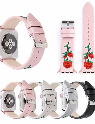הלהקה smartwatch פרחוני עבור סדרת שעונים Apple 4/3/2/1 קלאסי אבזם pu iwatch רצועת