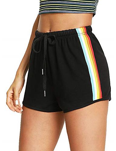 preiswerte Visors Kleidung-Damen Kordelzug Laufschuhe Sport Einfarbig Baumwolle Shorts / Laufshorts Laufen Fitness Sportkleidung Atmungsaktiv Rasche Trocknung Mikro-elastisch Regular