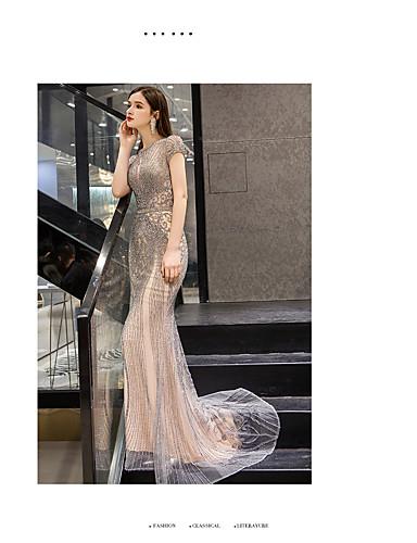 ffcf642d14ee27 Trompete / Meerjungfrau Schmuck Boden-Länge Organza Formeller Abend Kleid  mit Perlenstickerei durch TS Couture®