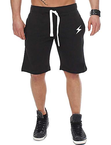 ราคาถูก กางเกงผู้ชาย-สำหรับผู้ชาย พื้นฐาน กางเกง Chinos / กางเกงขาสั้น กางเกง - ลายพิมพ์ กีฬา / ลายพิมพ์ สีดำ เทาอ่อน US34 US36 US40
