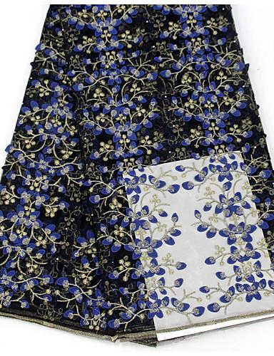 olcso Fashion Fabric-Csipke Virágok Minta 130 cm szélesség szövet mert Különleges alkalmak eladott valami által 5Yard