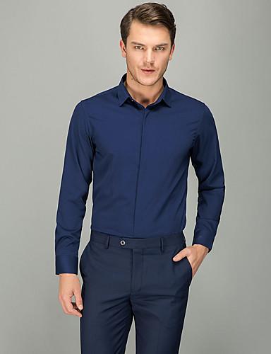 אחיד עסקים חולצה - בגדי ריקוד גברים כחול ים