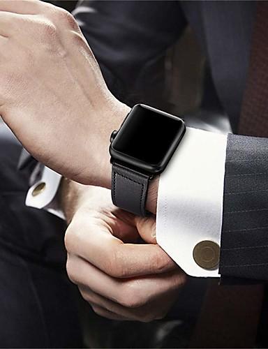 צפו בנד ל סדרת Apple Watch 5/4/3/2/1 Apple אבזם מודרני עור אמיתי רצועת יד לספורט