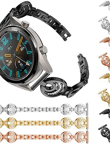 Ремешок для часов для Huawei Watch GT / Watch 2 Pro Huawei Спортивный ремешок / Дизайн украшения Нержавеющая сталь Повязка на запястье