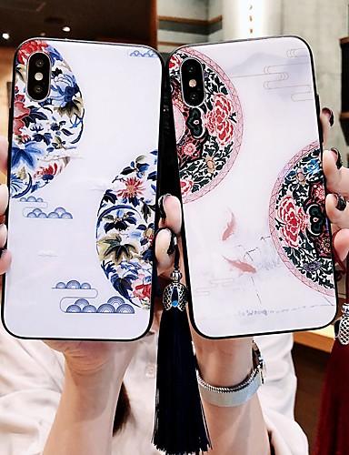 Pouzdro Uyumluluk Apple iPhone XS / iPhone XR / iPhone XS Max Şoka Dayanıklı / Toz Geçirmez / Temalı Arka Kapak Çiçek Temperli Cam