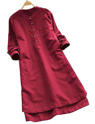povoljno Majica-Tunika Žene Dnevni Nosite Jednobojni Lila-roza