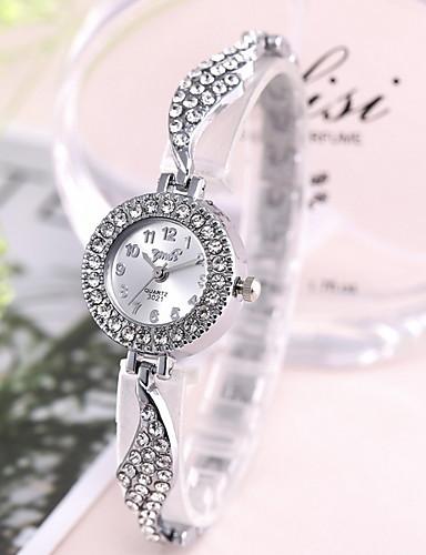 Kadın's Elbise Saat Quartz imitasyon Pırlanta Analog Klasik - Altın Gümüş